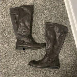 Dark grey rider boots